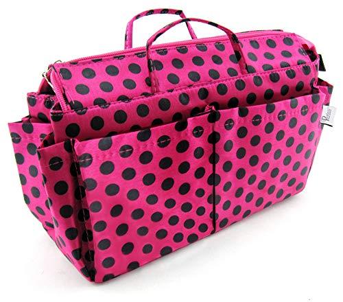 Periea Handtaschen-Organizer 13 Fächer Pinken Schwarz Mit Punkten - Lexy