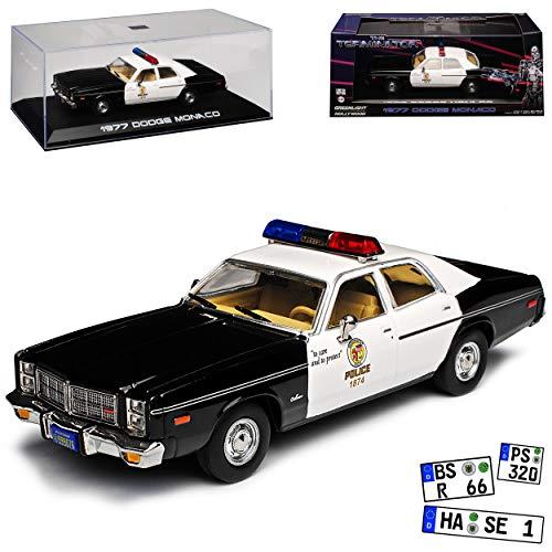 Greenlight Dodge Monaco Metropolitan Police 1977 Terminator Silber Felgen 1/43 Modell Auto