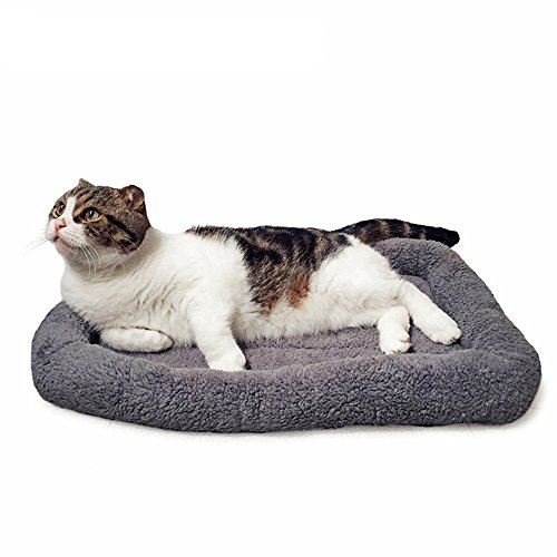 Yonfan Hundebett Kissen Hundekissen Katzenbett Katzenkissen Bett für Kleine Hunde Katzen Haustier Waschbar (60×45CM Grau)