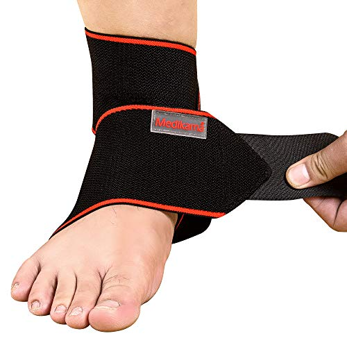 MEDIKAMA Sports Ankle Bandage fußbandage achillessehne Unisex - foot brace for jogging, gym, fitness - breathable Achilles tendon bandage - Ankle protection, stability & pain relief, Right-Left Ankle