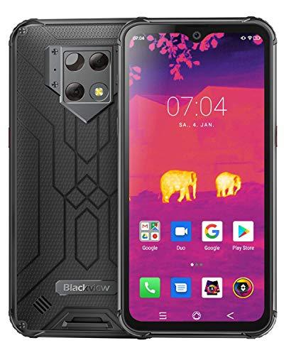 Blackview BV9800 Pro Outdoor Smartphone mit Wärmebildkamera - 6.3 Zoll FHD Display 48-MP-Triple-Kamera, 6GB / 128GB P70 Dual-SIM 6580mAh Android Handy Ohne Vertrag Global Version (Schwarz)