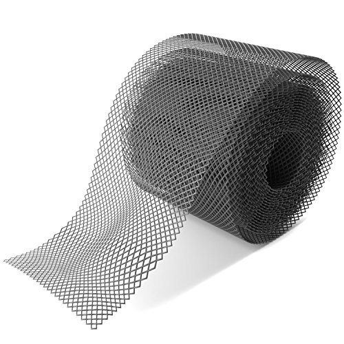 Home Intuition Gutter Guard Plastic Mesh Guards 6' Wide 20' Long (2 Pack)