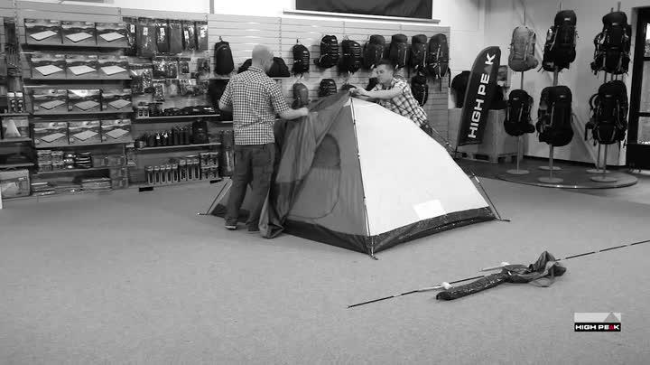 High Peak Kuppelzelt Nevada 4, Campingzelt mit Vorbau, Iglu-Zelt für 4 Personen, doppelwandig, wasserdicht…