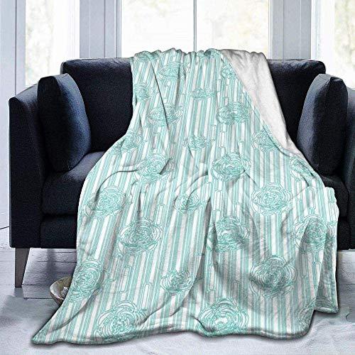 CVMFE Throw Blanket,Deco Roses,Warm Ultra Soft Flannel Fleece Light Weight Blanket Sofa Bed Living Room Bedroom for Adult Children