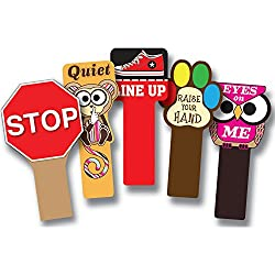 classroom management tools - hand held signs