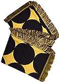 Manual Black and Gold Diamond Circle Decorative Reversible Lightweight Throw Blanket ETBGD 50x60