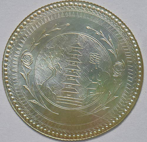1900 CN China 1900~49 Gaming Token mother of pearl pagoda 293133 DE PO-01
