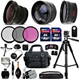 Deluxe 28 Piece Accessory Kit for Sony Alpha a5100, a6000, a5000, a3000, Alpha 7 II, 7S, 7R, Alpha 7, SLT-A77 II, SLT-A99, SLT-A58, SLT-A57, SLT-A37, SLT-A77, SLT-A35, SLT-A65, SLT-A55, SLT-A33, Alpha NEX-3, NEX-3N, NEX-5N, NEX-5R, NEX-5T, NEX-6, NEX-7, NEX-F3 Cameras Includes: 58mm Super High Definition FishEye Lens + 58mm High Definition 2X Telephoto Lens + 58mm High Definition Wide Angle Lens + 16GB High Speed Memory Card + 8GB High Speed Memory Card + Professional Full Size 72 Inch Tripod + Large Well Padded Case + Universal Camera Remote Control + 49mm 3 Piece Glass Filter Set (UV Filter + CPL Filter + ND Filter) + Universal Card Reader + Flexible Mini Table Tripod + Memory Card Case Holder + Screen Protectors + Mini Blower + Cleaning Pen + 49mm Lens Cap + Lens Cap Holder + Deluxe Cleaning Kit + Ultra Fine HeroFiber Cleaning Cloth