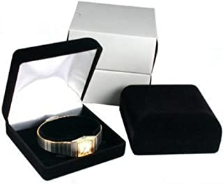 FindingKing 2 Black Flocked Watch & Bracelet Jewelry Gift Boxes