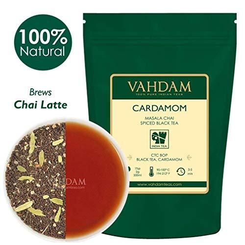 VAHDAM Tè Masala Chai (50 tazze) - Tè Assam CTC di altissima qualità miscelato con cannella fresca indiana (Elaichi) - Tè Masala con ricetta originale indiana, miscelato e spedito dall'india, 100g