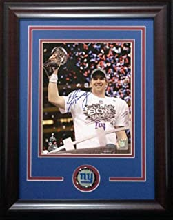 Eli Manning Ny Giants Autographed Signed Framed Coin Super Bowl MVP Trophy 8x10 Steiner Authentic