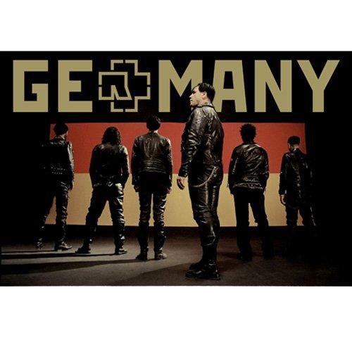 Rammstein Poster Germany Mehrfarbig, Offizielles Band Merchandise Fan Plakat