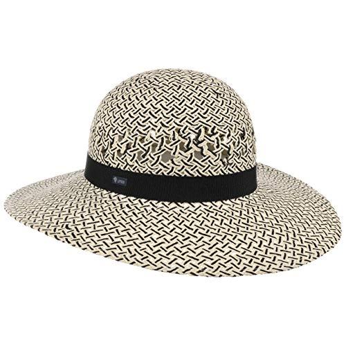 Lipodo Sombrero de ala Ancha Jalaisa Mujer - Made in Italy Playa Paja Verano con Banda Grosgrain Primavera/Verano