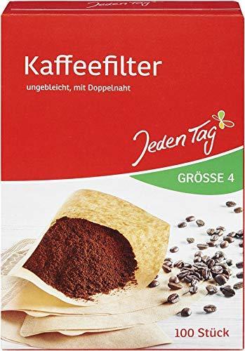 Jeden Tag Filtertüten Kaffee Größe 4, 100 Stück, 223 g