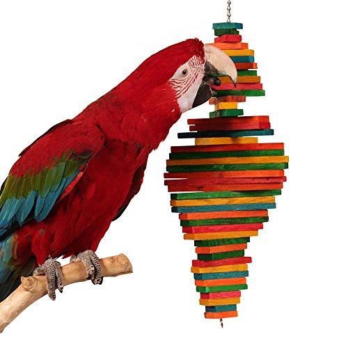 Cocotte by Zoo-MAX - Juguete de Madera para pájaros (tamaño Mediano, 22 x 15 cm)