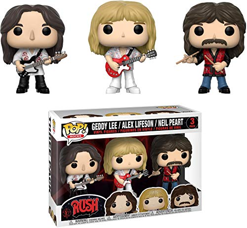 Pop! Figura de Vinilo 3-Pack: Musica: Rush - Geddy, Alex, Neil
