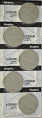 5x Energizer CR2430 (ECR2430BP) Lithium Coin 3v Button Cell battery