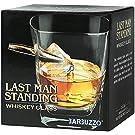 Mags Whiskeyglas Last Man Standing transparent, aus Glas/Metall, in Geschenkkarton.