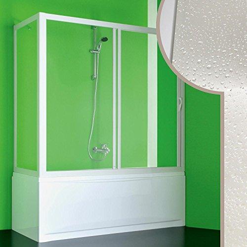Cabine douche Pare-Baignoire 90x180 CM en acrylique mod. Plutone avec ouverture laterale