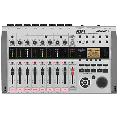 Zoom R24 Multitrack Recorder, Interface, Controller, Sampler with 1 Year Free Extended Warranty