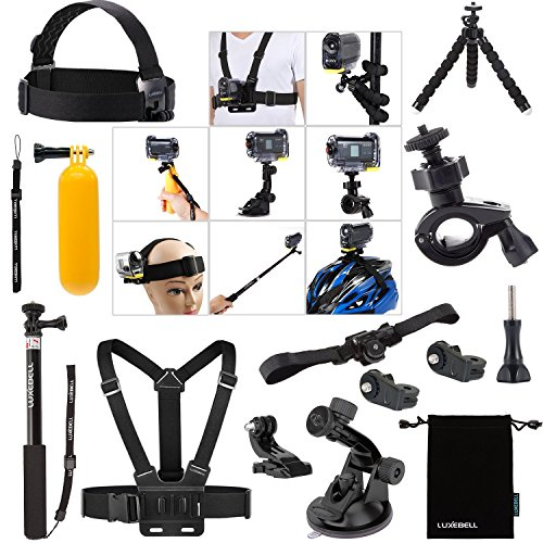Luxebell 14-in-1 Accessori Kit per Sony Action Camera HDR-AS15 AS20 AS30VE AS50