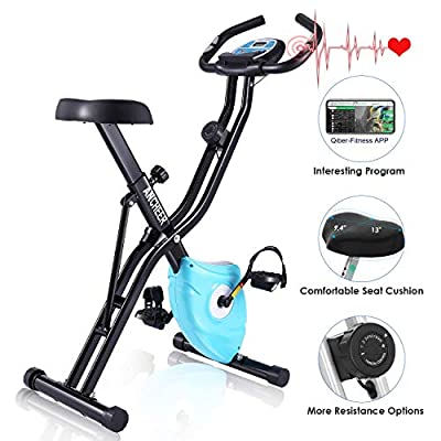 ANCHEER Indoor Cycling Bike Stationary, Excerise Bikes Quiet Smooth Belt Drive System Flywheel Exercise Bike with Heart Rate and LCD Monitor, Adjustable Seat and Handlebars & Base for Home Workout