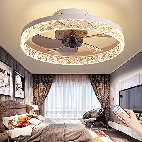 YUnZhonghe Ventilador de techo LED con iluminación Control remoto reversible silencioso Ventilador moderno Lámpara de techo con luz 3 velocidades Chandelier Habitación para niños Sala de estar Dormito