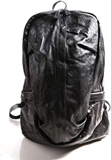 RJW Men's Fashion Retro Backpack/Personalized Leather Travel Outdoor Backpack Fashion (Color : Black)