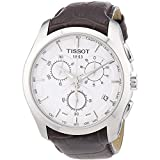 Tissot Couturier - Reloj (Reloj de Pulsera, Masculino, Acero Inoxidable, Plata, Cuero, Marrón)