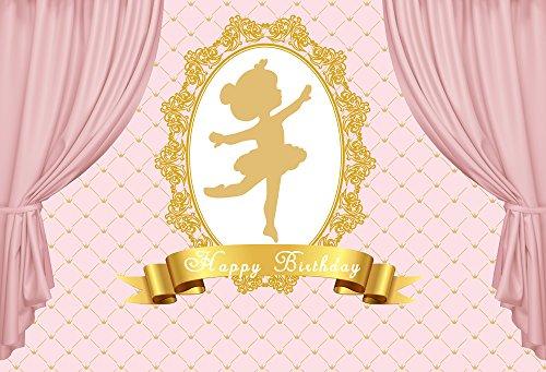 HuaYi rosa Tanz Mädchen Hintergrund Maßstab Muscheln Wand Baby Dusche Kids Birthday Party Banner Foto Booth w-659