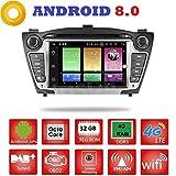 Android 8.0 GPS DVD USB SD Wi-Fi Bluetooth MirrorLink Autoradio 2 DIN Navigationssystem für Hyundai IX35/Tucson 2009, 2010, 2011, 2012, 2013, 2014.