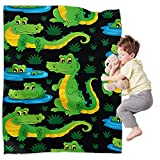 Crocodile Blanket 50'x40' Animal Halloween Flannel Throws Blankets for Couch Sofa All Season Super Cozy Plush Blanket for Kids Adults