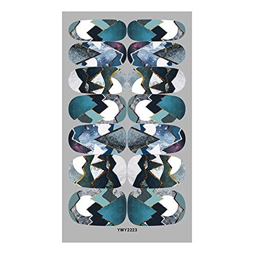 geshiglobal Calcomanía de manicura segura, ligera, fácil de aplicar, 12 colores, patrón de mármol, adhesivo de transferencia de uñas para mujeres – 6