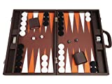 Silverman & Co. 19-inch Premium Backgammon Set - Dark Brown Board