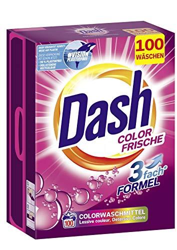 Dash® Color Frische Pulver I Waschmittel für bunte Wäsche I 100 Waschladungen I frische, leuchtend bunte Wäsche | 6,5 kg
