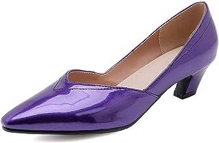 BalaMasa Womens APL12125 Pu Block Heels
