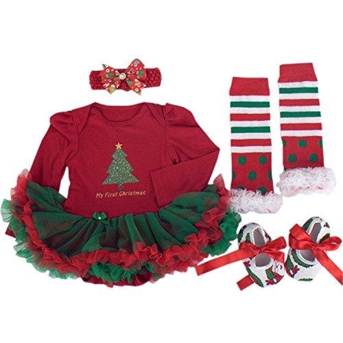 BabyPreg Niñas bebés Mi primera Navidad traje de Santa del partido del vestido...