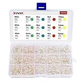 XTVTX 750 piezas 5 colores 3 mm Luces de diodo LED Kit surtido de LED Componentes electrónicos Bombilla redonda difusa para Arduino DIY Blanco Rojo Amarillo Verde Azul