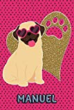 Pug Life Manuel: College Ruled | Composition Book | Diary | Lined Journal | Green