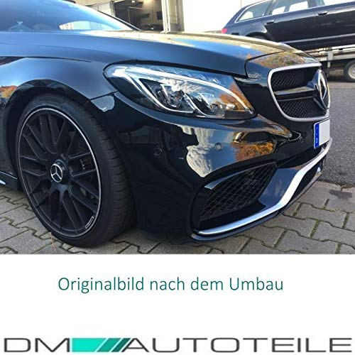 51QxhmR0WTL - DM Autoteile Stoßstange vorne +Grill+ Zubehör passend für C-Klasse S205 W205 C63 15>