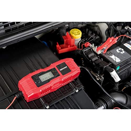Absaar 158005 Batterie-Ladegerät 4A Ladegerät, umschaltbar von 6/12V für 5Ah - 120 Ah Batterien