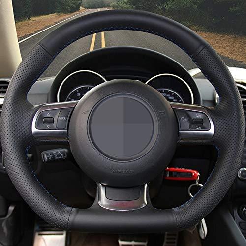 HCCX DIY-Schwarz-Leder-Auto-Lenkrad-Abdeckung, for Audi A3 S3 (8P) Sportback 2008-2012 R8 TT TTS (8J) 2006-2014 (Color Name : Red Thread)