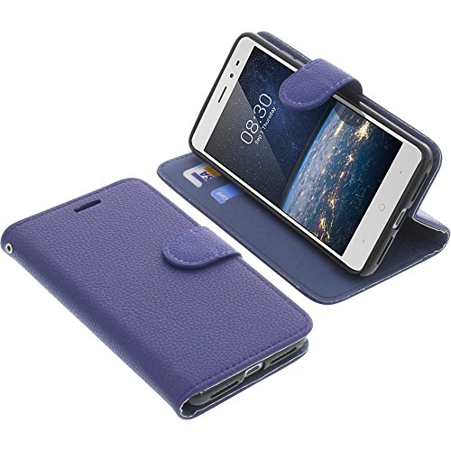 foto-kontor Tasche für TP-Link Neffos X1 Lite Book Style blau Schutz Hülle Buch