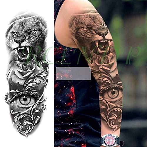 tzxdbh 3Pcs-Waterproof Tattoo Sticker Taro Rose Clock Braccio Completo Manica Tatuaggio Manica Manica Grande Uomo e Donna 3Pcs-