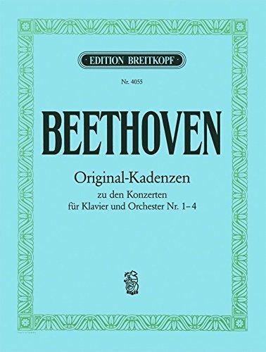 8 Original-Kadenzen für Klavier - zu den Klavierkonzerten Nr. 1, 2, 3 und 4 (EB 4055)
