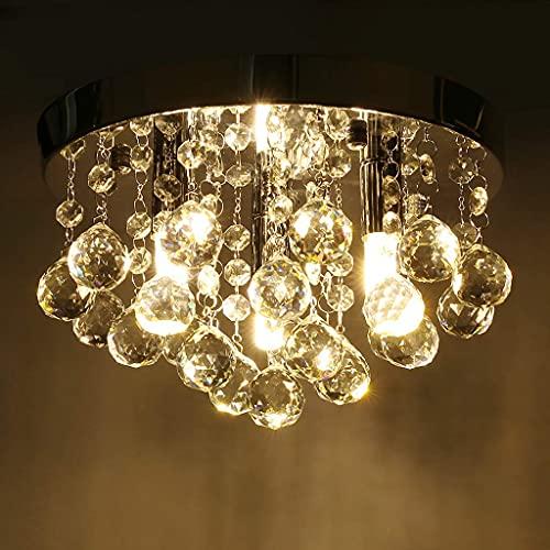 LYMHGHJ Lámpara de Techo de araña de Cristal Moderna, Accesorio Colgante con Base G9, Cuentas de Cristal, fácil de Instalar, para Sala de Estar, Comedor, Dormitorio, Cocina, vestíbul