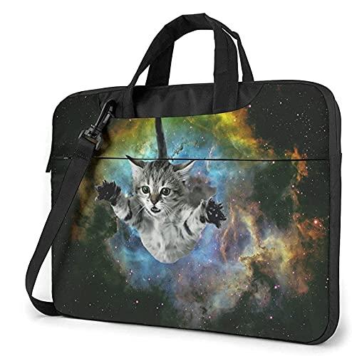 Tcerlcir 15.6 pollici computer portatile leggero protettivo Borsa,Cat Laptop Bag Tracolla Messenger Bag borsa del computer Cartella Adatto,per la scuola Lavoro d'ufficio Uomini Donne