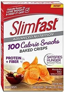Slim Fast Advanced Potato Baked Crisps Snacks, Mesquite BBQ, 5 Count (Pack of 4) by Slim-Fast