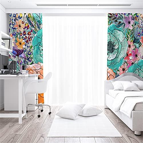 Impresión De Dibujos Animados En 3D Cortinas De Protección Solar De Alto Sombreado Sala De Estar Dormitorio Balcón Habitación De Los Niños Cortinas Insonorizadas Anti-Ultravioleta 2xW140xH245cm