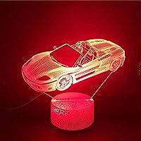 3DイリュージョンランプLEDナイトライトスマートフォンコントロールUSB愛情のあるアッパーカーファンタッチEnsorベビーギフトテーブルランプベッドルームブライトベース
